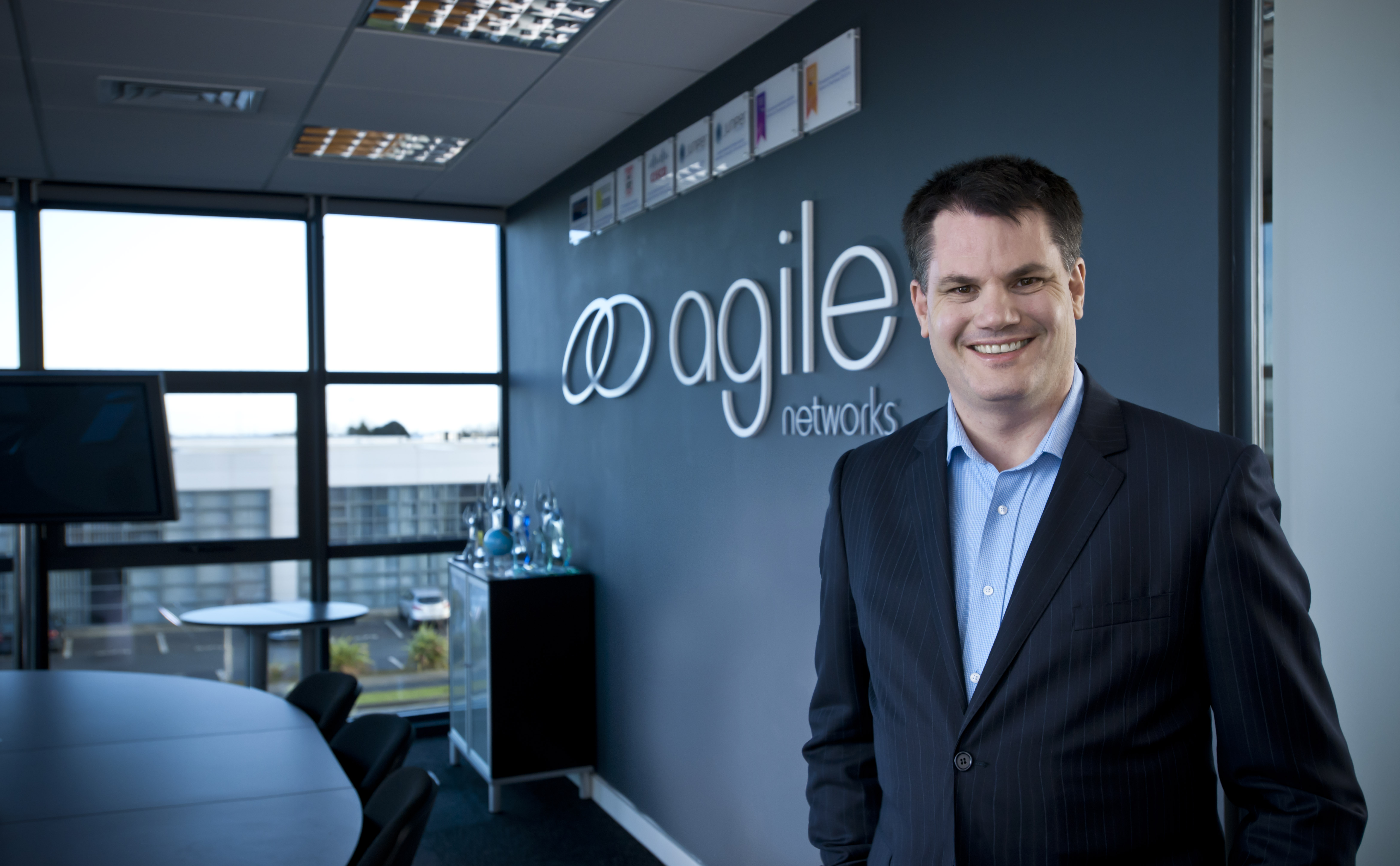 Darragh Richardson of Agile Networks in his office