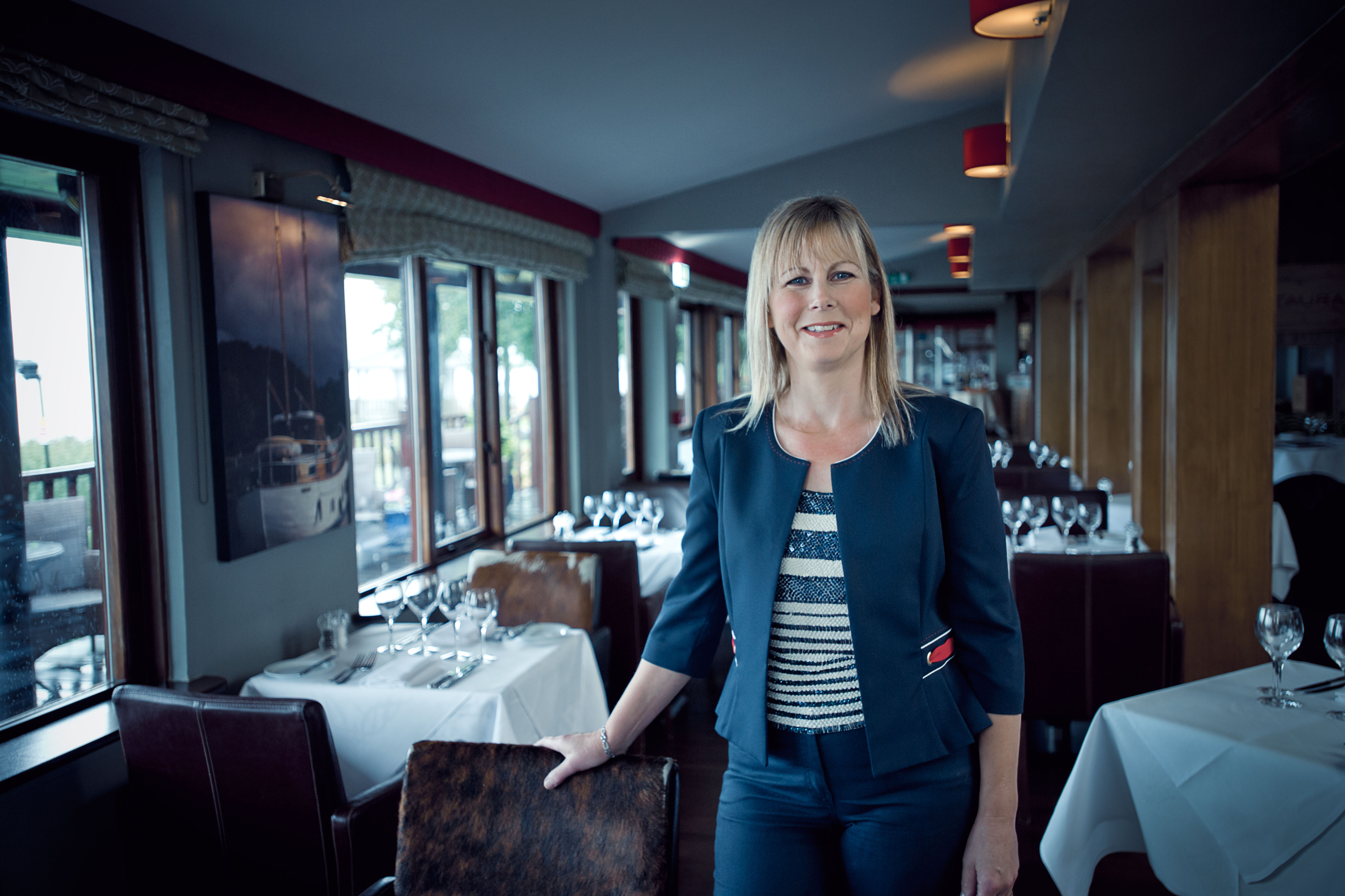 Jane English of Wineport Lodge in her restaurant