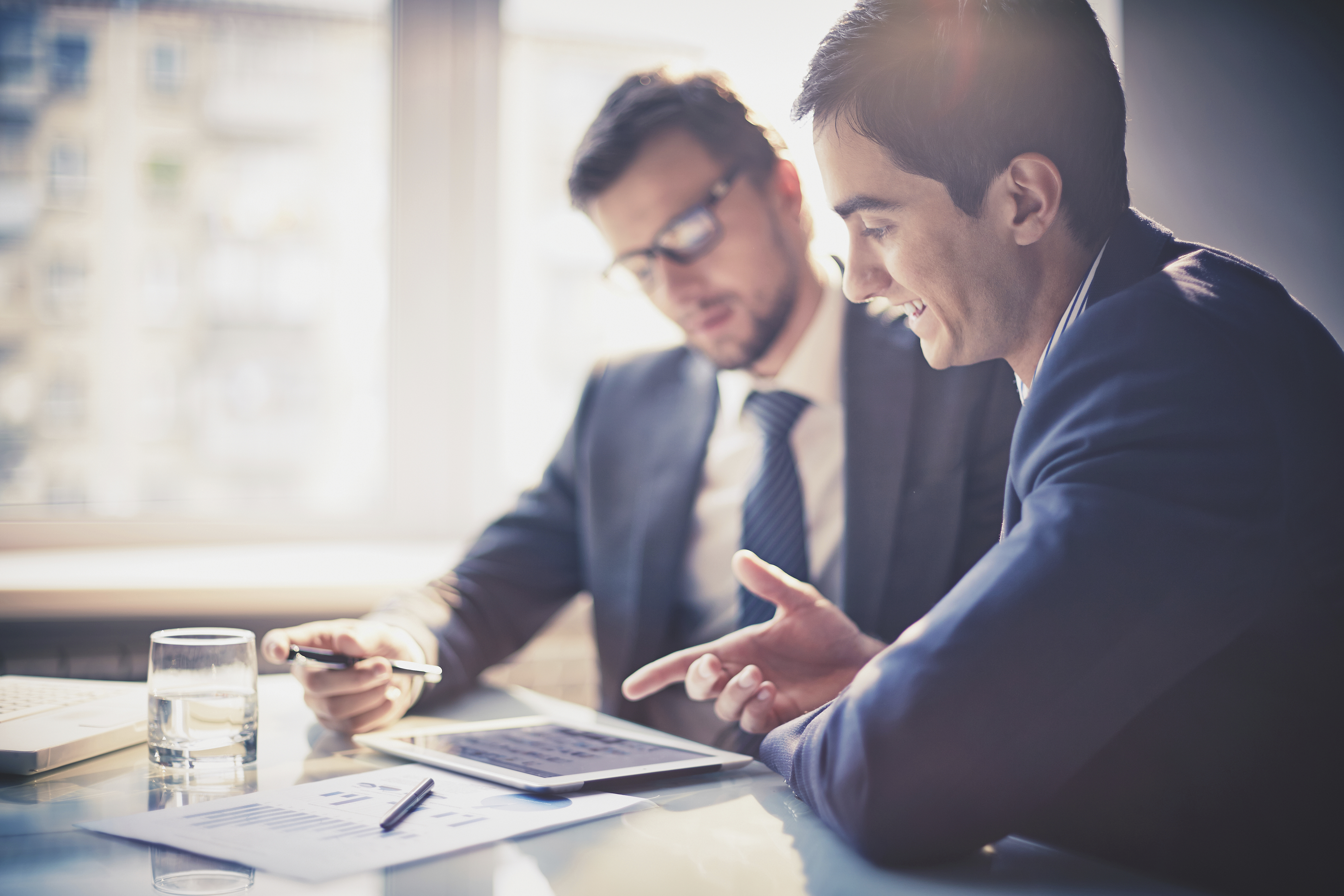 Business owner working with an accountant