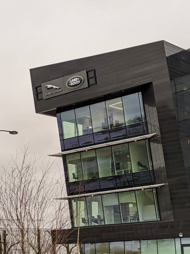 Jaguar Land Rover building in Shannon.