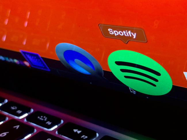 Spotify app on a Mac screen.
