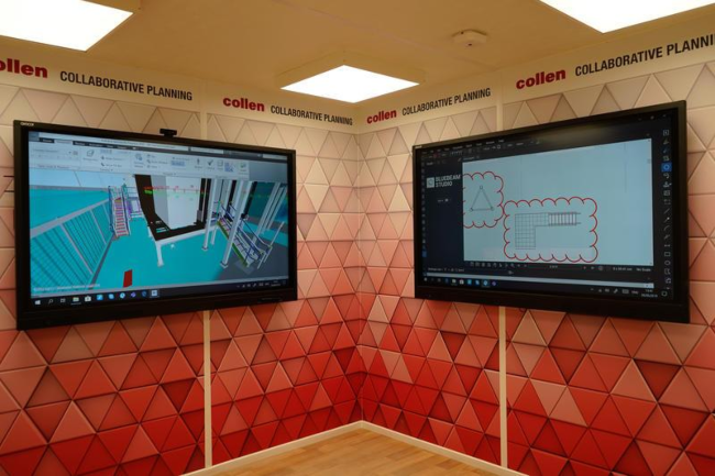 State-of-the-art interior of the BIM platform developed for Collen project managers.