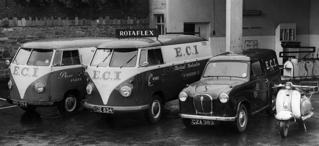 Fleet of vehicles from the 1960s.