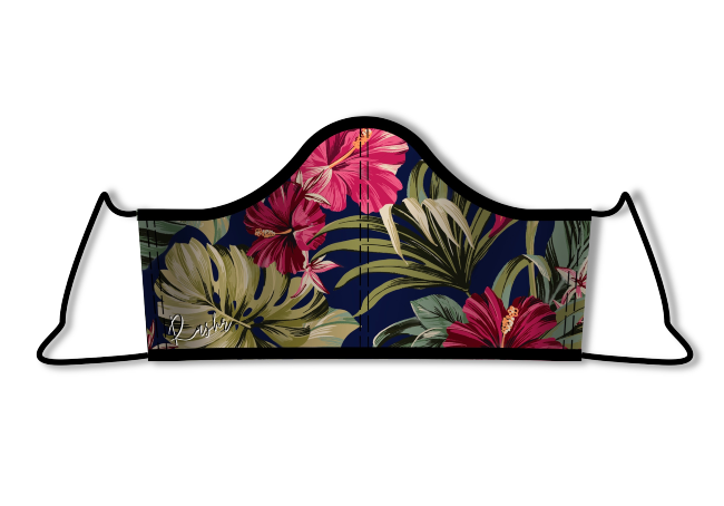 Irish designed facemask with floral pattern.