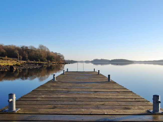 Jetty leading into Lough Erne.
