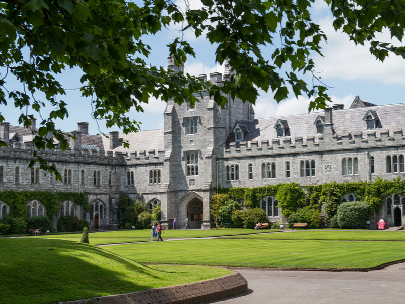Campus at UCC Cork on a sunny day.