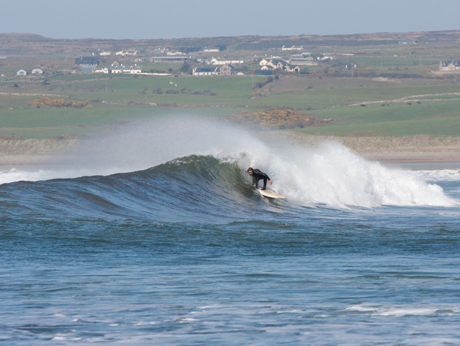 Surfing in Lahinch.