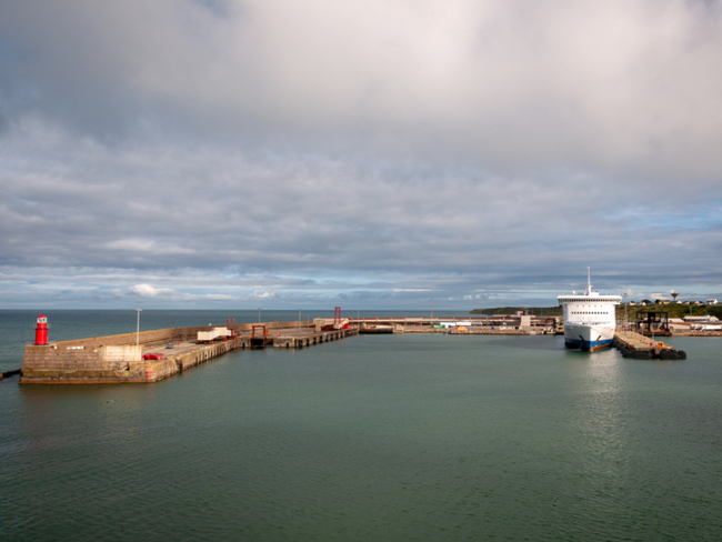 Harbour scene in Rosslare.