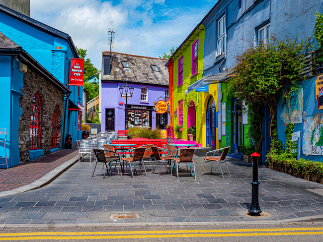 Colourful street in Kinsale.