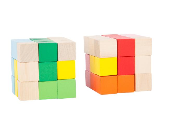 playing blocks.