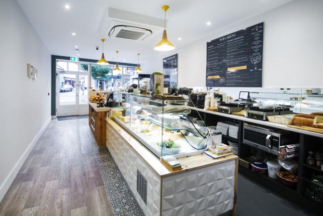 Inside a coffee shop in Sligo.