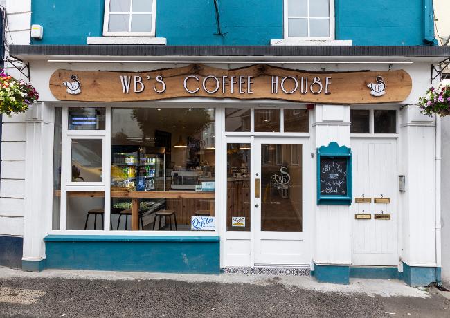 Outside WB's coffee shop in Sligo.
