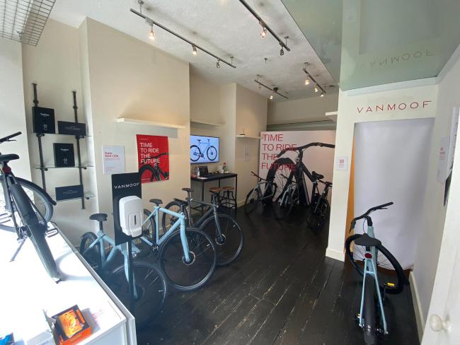 Pop-up bicycle shop Dublin.