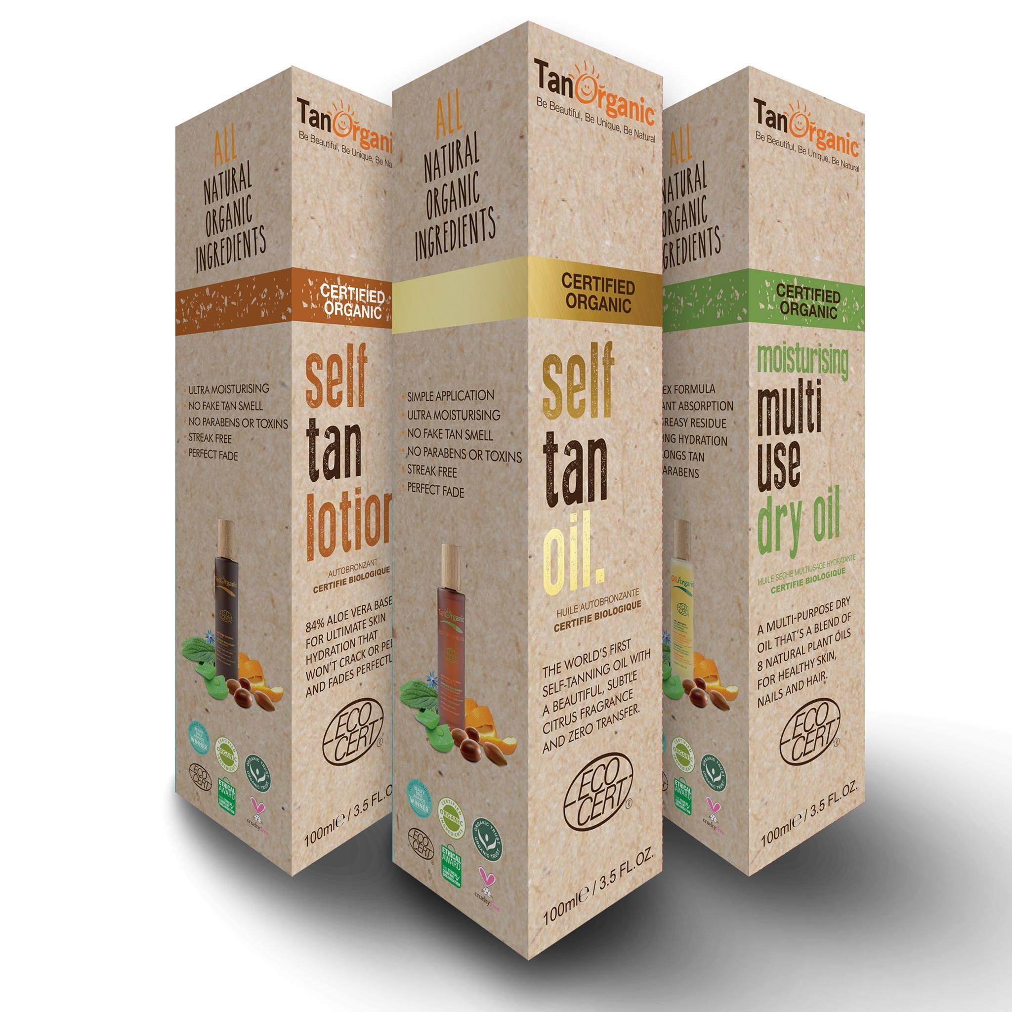 Tan Organic product.