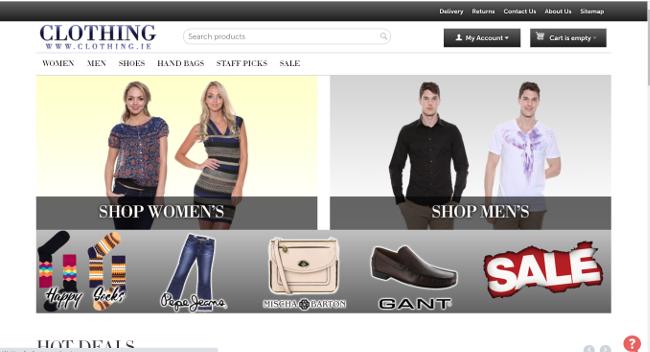 Clothing.ie website.