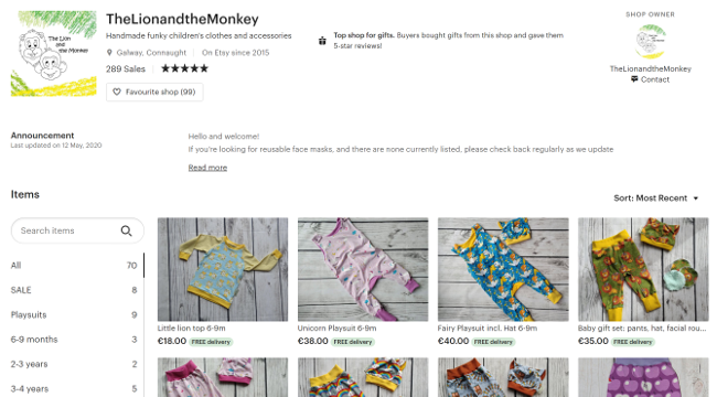 Lion and Monkey website.