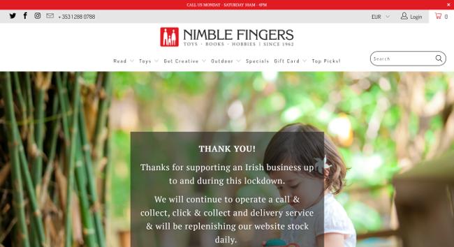 Nimble fingers website.