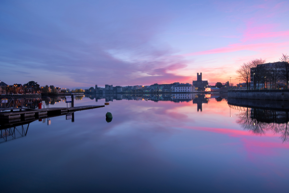 View of Limerick from River Shannon.