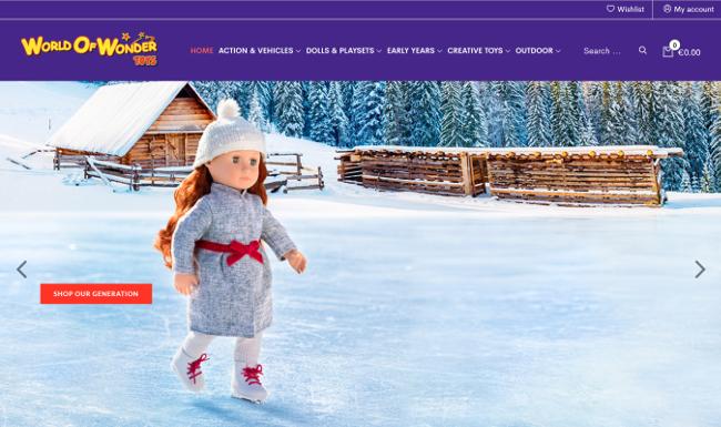 World of Wonder toys website.