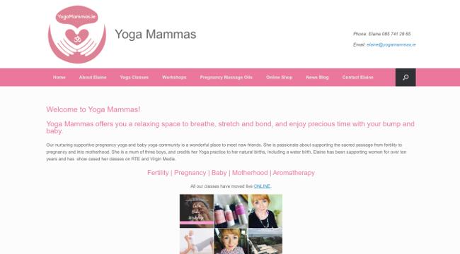 Yoga Mammas website.