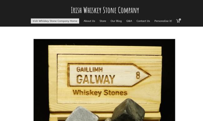 Irish Whiskey Stone website.