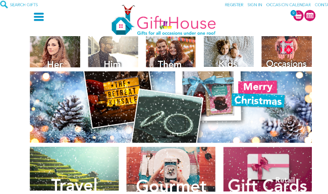 Gifthouse website.