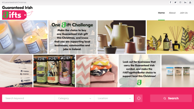 Guaranteed Irish gifts website.