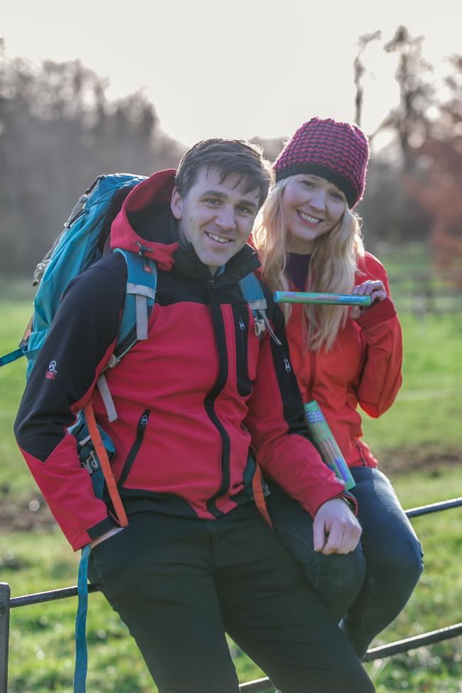 Man and woman in hillwalking gear.