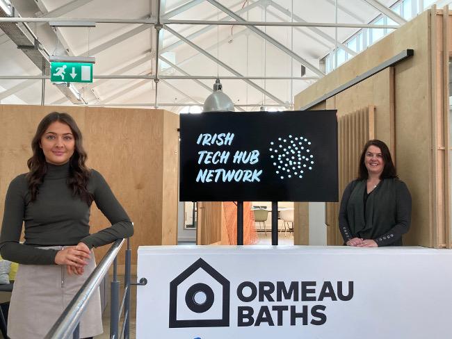 Two women at Ormeau Baths, Belfast.