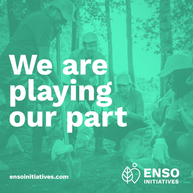 ENSO Initiatives slogan 'We are playing our part'.