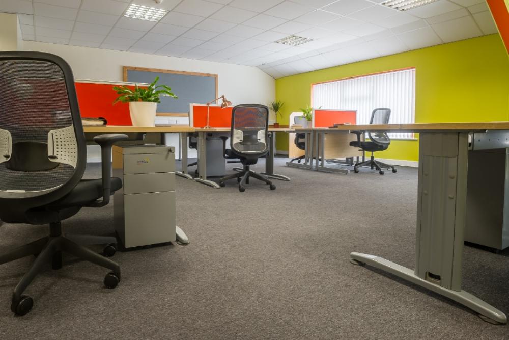 Inside a co-working hub in Kildare.
