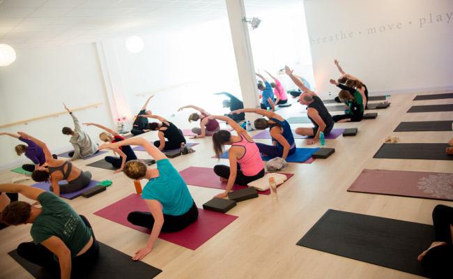 Yoga class at Salt & Soul in Sligo.