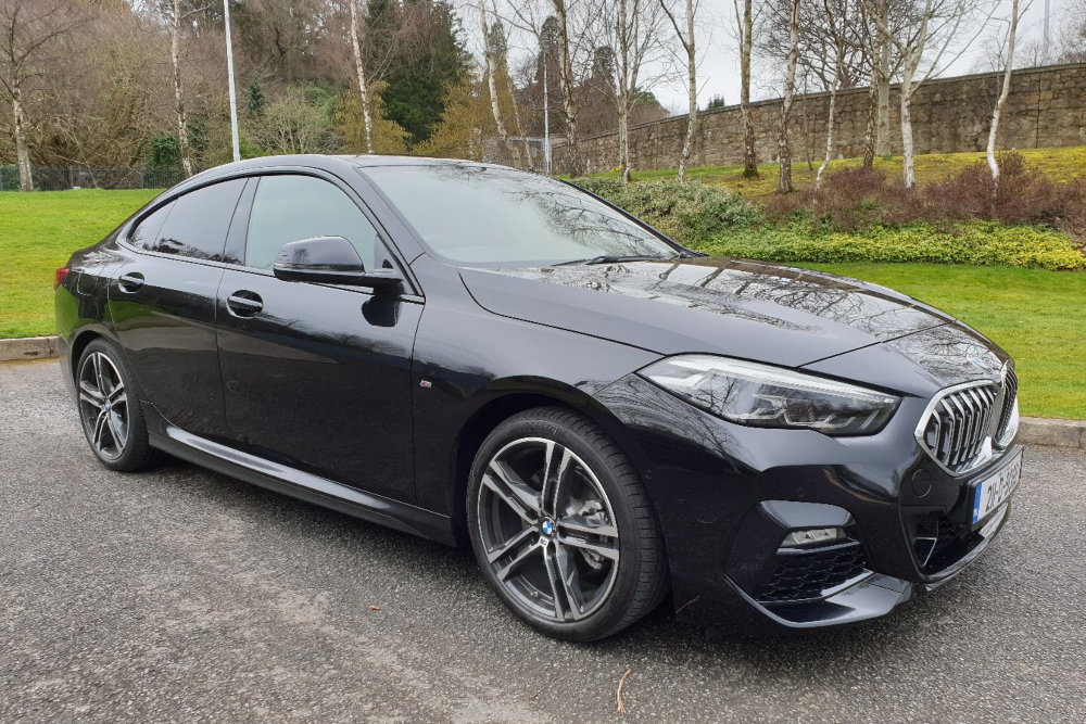 BMW 218i gran coupe in black.