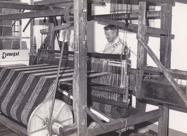 Traditional handweaving in Donegal.