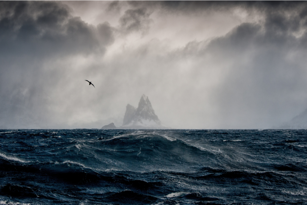 Elephant Island in the South Antarctic.