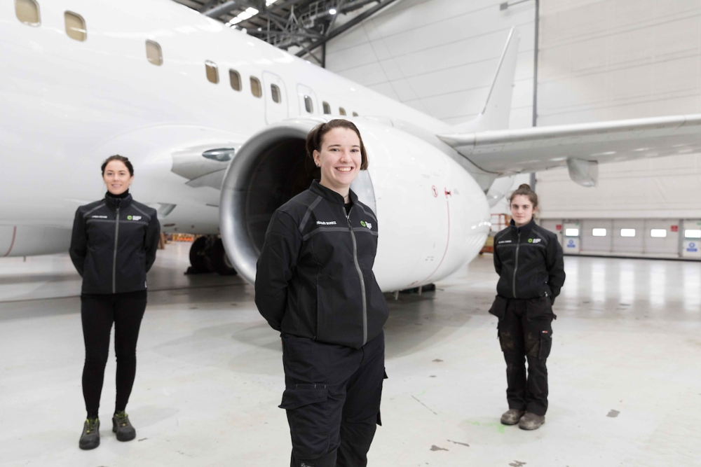 Young women apprentices at Atlantic Aviation Group.