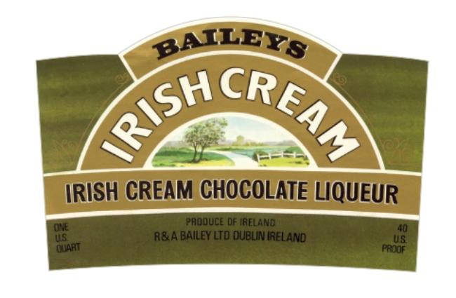 The original label for Baileys.