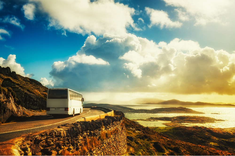 A bus on the Ring of Kerry.