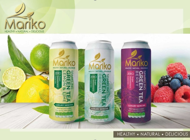 Range of drink cans by Mayo firm Mariko.