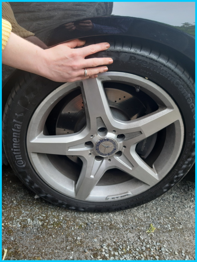 Continental tyre on a Mercedes vehicle.