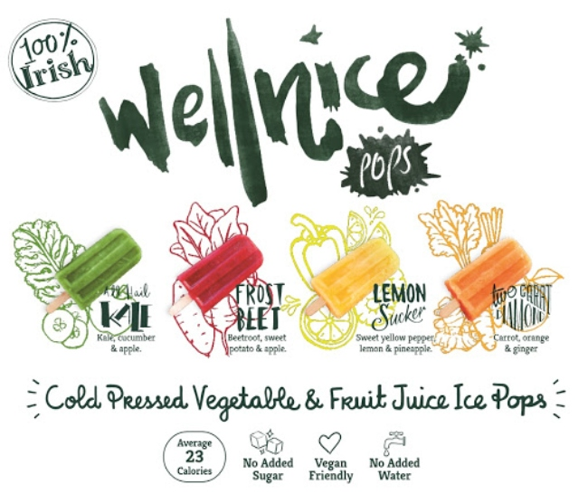 Different flavours of Wellnice Pops.