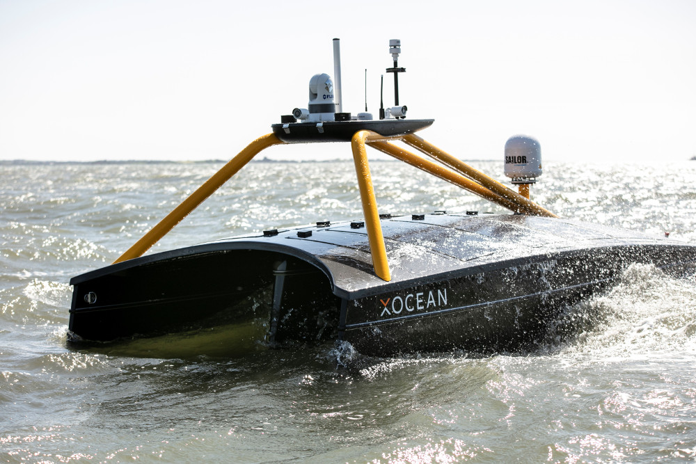 A robotic boat.