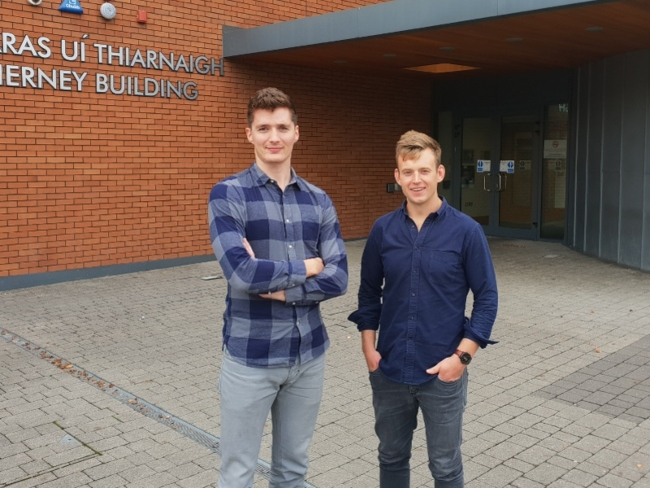 Two men at a college in Limerick.