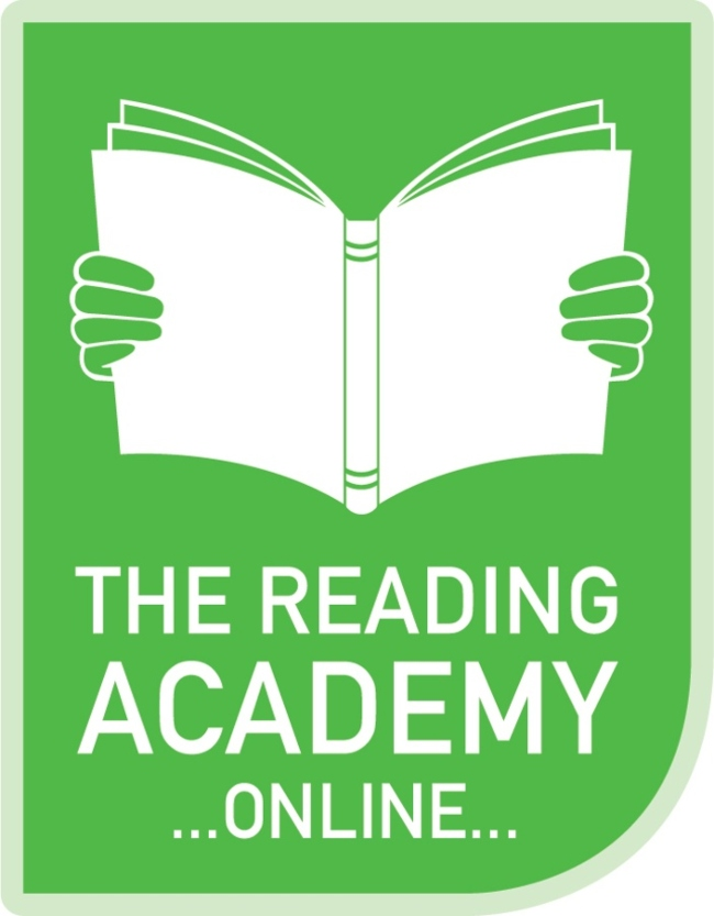 logo for the Reading Academy online.