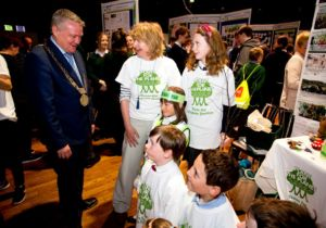 Plant-for-the-Planet Easyas12tree project meet the Lord Mayor of Dublin at the Mansion House Eco Unesco Awards Prizegiving