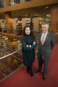 No Repro fee 22-1-2018 Picture shows from left Francesca McDonagh,CEO, Bank of Ireland and Dr Patrick Prendergast, Provost,Trinity College Dublin as Trinity College Dublin and Bank of Ireland announced a new partnership that will support students and graduates developing innovation and entrepreneurial skills at the University's Innovation & Entrepreneurship (I&E) Hub today. All Trinity students, researchers, and graduates will be able to access cutting edge innovation, entrepreneurial and idea development programmes at the Trinity Innovation and Entrepreneurship Hub.Pic:Naoise Culhane-no fee The new Bank of Ireland partnership will support the development of a new Undergraduate Certificate in innovation and Entrepreneurship as well as the expansion of existing programmes such as LaunchBox, the Trinity student business incubator and new programmes such as expert-led sprints and hackathons.Pic:Naoise Culhane-no fee For media queries: Bank of Ireland -  Alison Mills/Naomi Keating   Tel: 086 8512890 / 087 9703769 Pic:Naoise Culhane-no fee